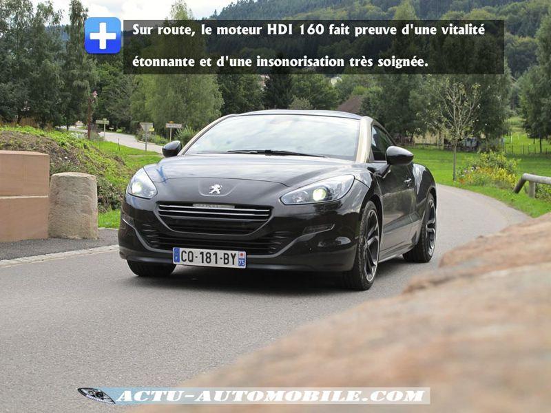 Performances Peugeot RCZ HDI 160