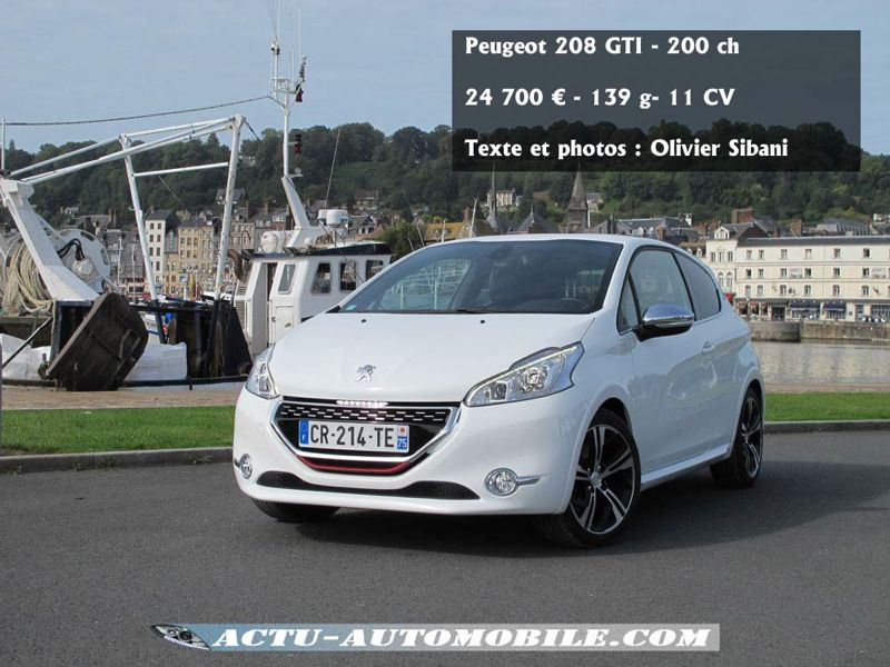 essai peugeot 208 gti sportivement votre actu automobile. Black Bedroom Furniture Sets. Home Design Ideas