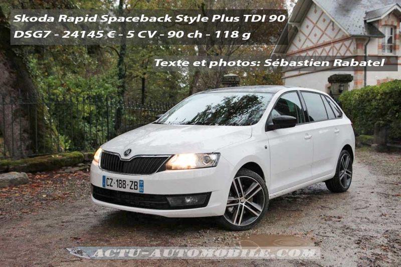 Skoda Rapid Spaceback Style Plus