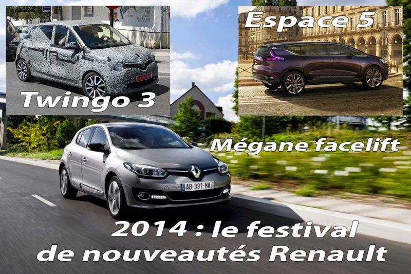 Les nouveautés Renault 2014