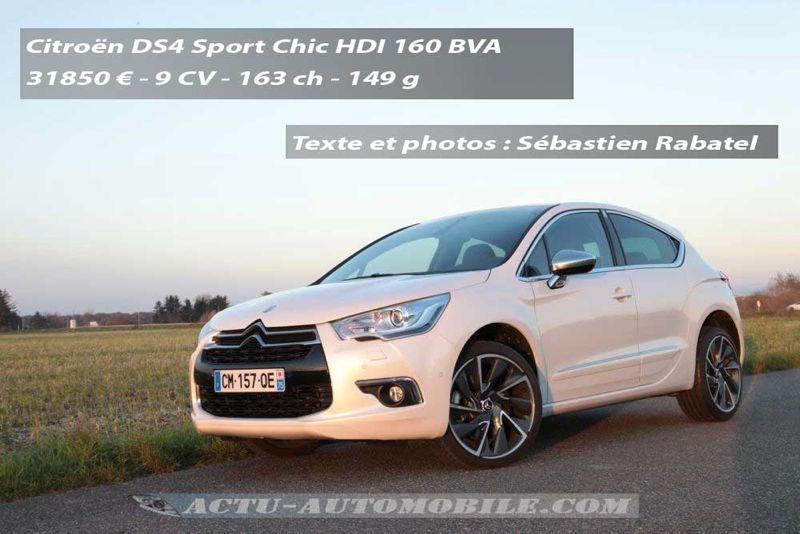 Citroën DS4 HDI 160 BVA Sport Chic