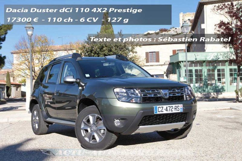 essai nouveau dacia duster dci 110 prestige. Black Bedroom Furniture Sets. Home Design Ideas
