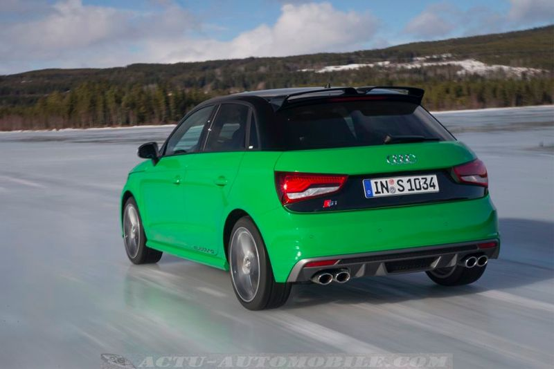 essai audi s1 sportback green hornet on ice actu automobile. Black Bedroom Furniture Sets. Home Design Ideas