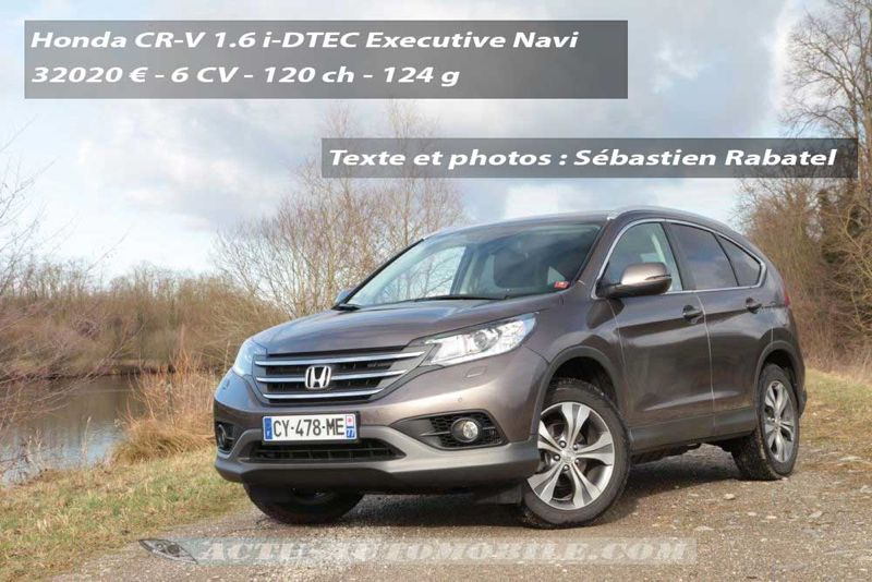 essai honda cr v 1 6 i dtec executive navi actu automobile. Black Bedroom Furniture Sets. Home Design Ideas