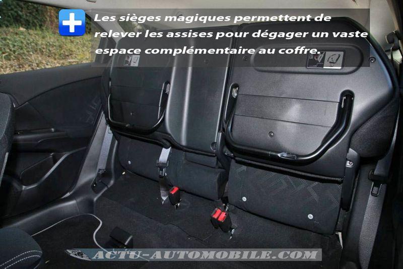 Sièges arrière magiques Honda Civic Tourer