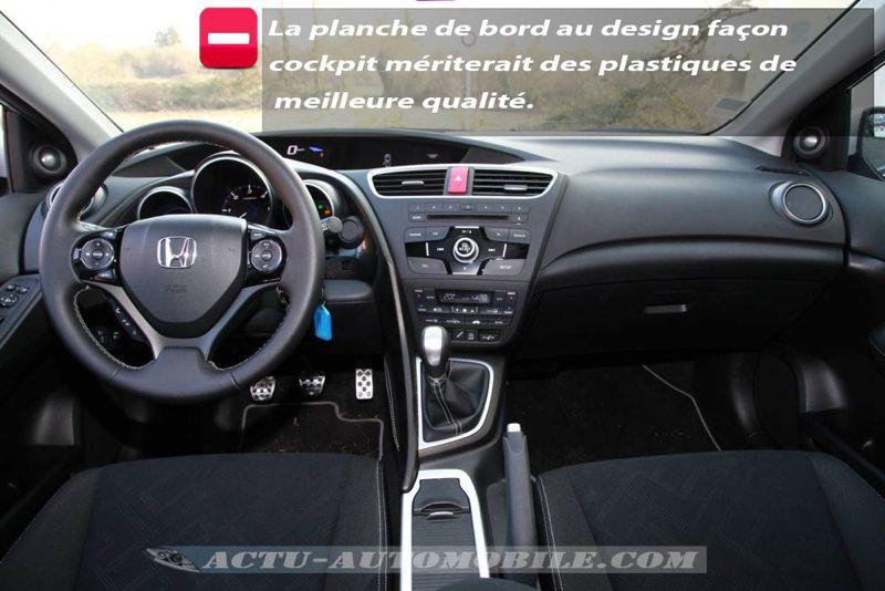 Planche de bord Honda Civic Tourer