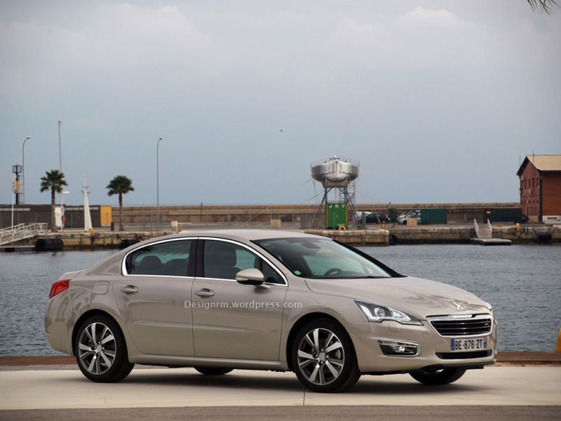 Peugeot 508 restylée : photoshop