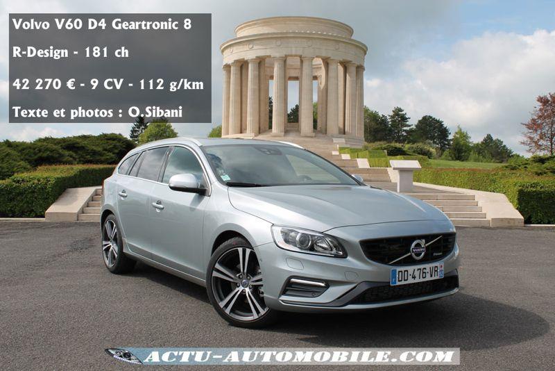 Essai Volvo V60 D4 Drive E Un Concentr 233 De Volvo Actu Automobile
