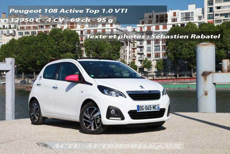 Essai Peugeot 108