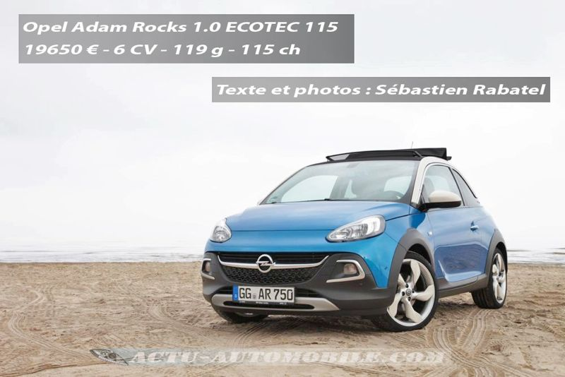 essai opel adam rocks l 39 exploratrice actu automobile. Black Bedroom Furniture Sets. Home Design Ideas
