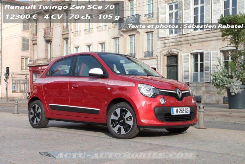 Essai nouvelle Renault Twingo Sce 70