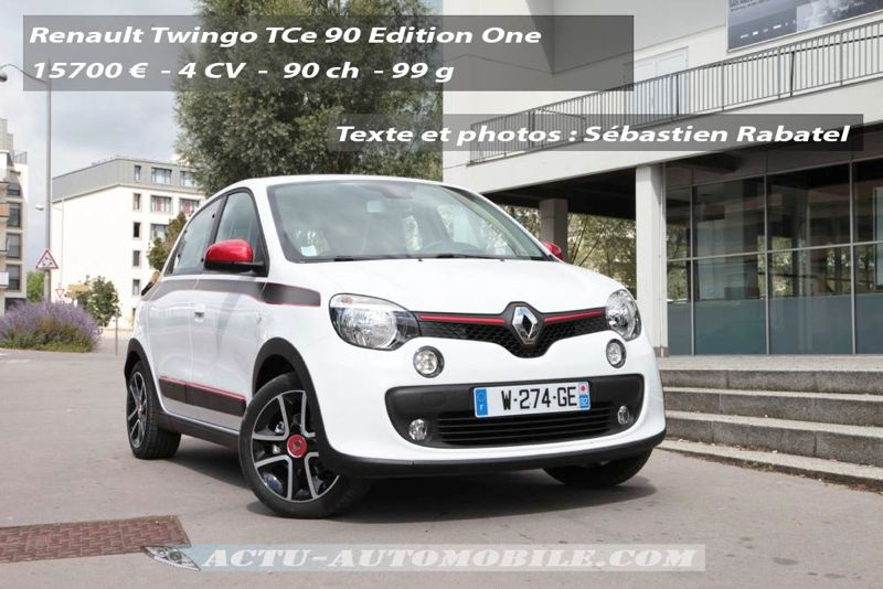 essai nouvelle renault twingo edition one tce 90 actu automobile. Black Bedroom Furniture Sets. Home Design Ideas
