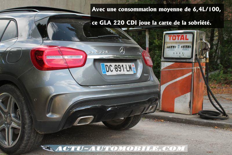 Consommation GLA 220 CDI