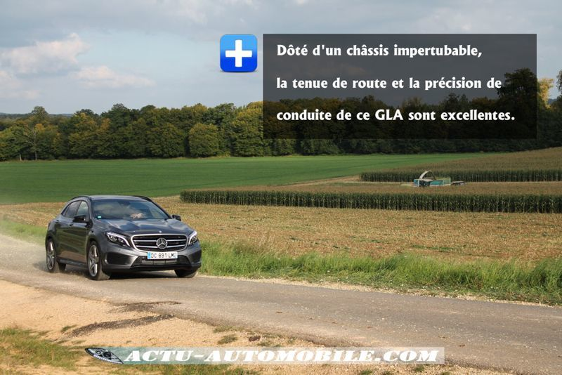 Comportement routier Mercedes GLA