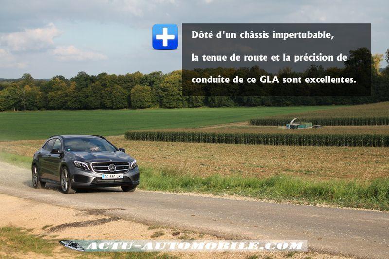 Comportement routier Mercedes GLA