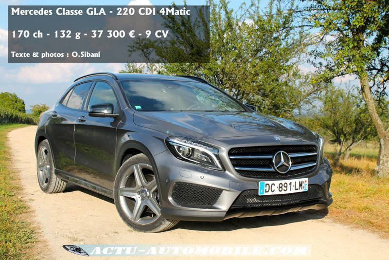 essai mercedes gla 220 cdi off the road again actu automobile. Black Bedroom Furniture Sets. Home Design Ideas