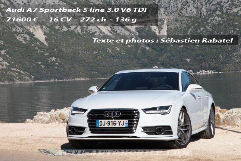 Essai Audi A7 Sportback Restyl 233 E V6 Tdi 272 S Line Actu