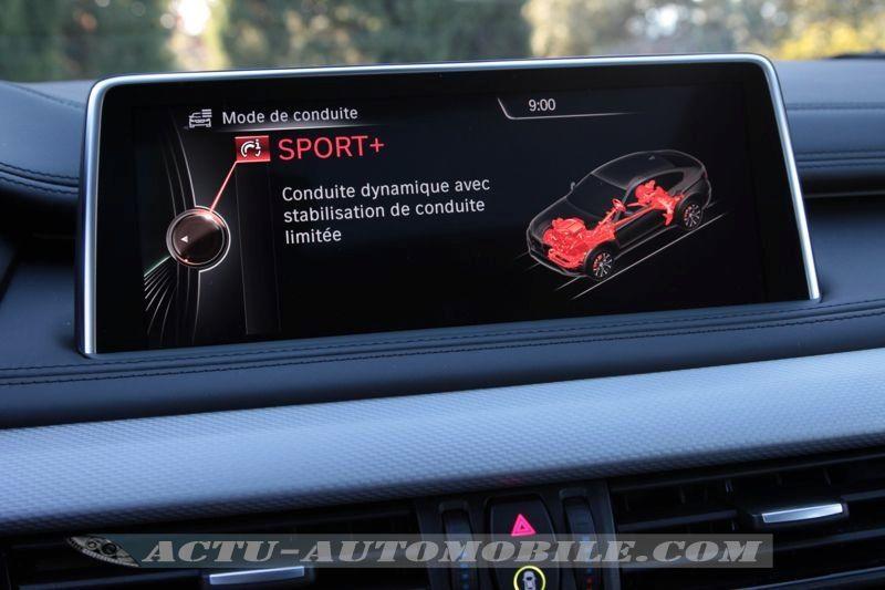Mode Sport+ BMW X6 M50d