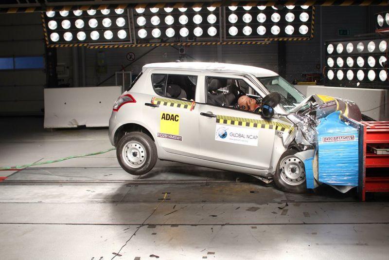 Maruti-Suzuki Swift en crash-test
