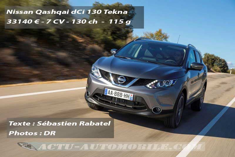 essai nouveau nissan qashqai dci 130 actu automobile. Black Bedroom Furniture Sets. Home Design Ideas