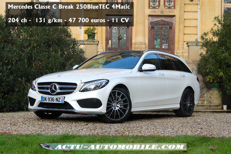 Essai Nouvelle Mercedes Classe C Break 250 Bluetec