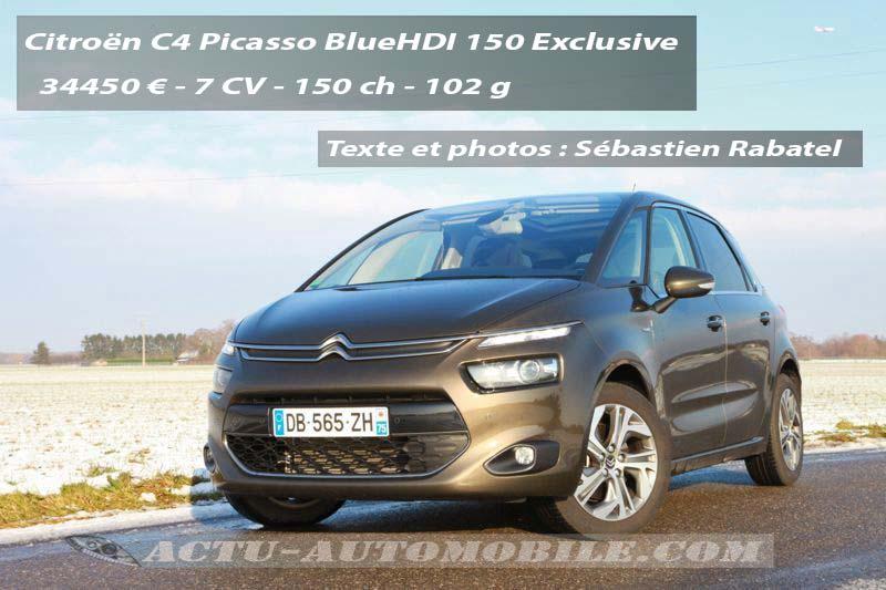 Essai Citroën C4 Picasso BlueHDI 150