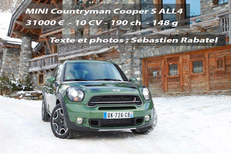 essai mini countryman restyl cooper s 190 ch all4 actu automobile. Black Bedroom Furniture Sets. Home Design Ideas