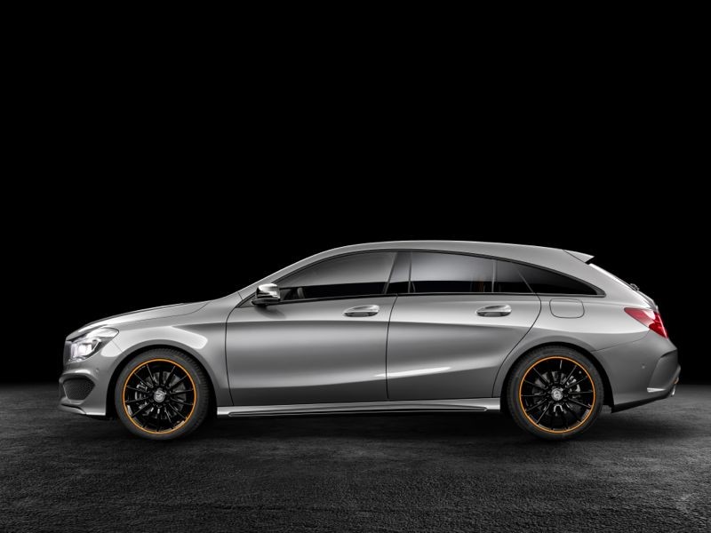 mercedes cla shooting brake orange art edition actu automobile. Black Bedroom Furniture Sets. Home Design Ideas