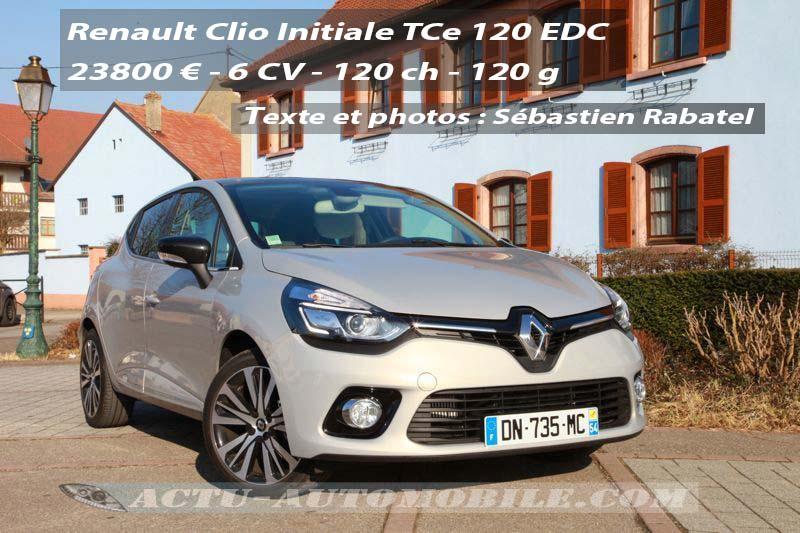 Essai Renault Clio Initiale TCe 120 EDC