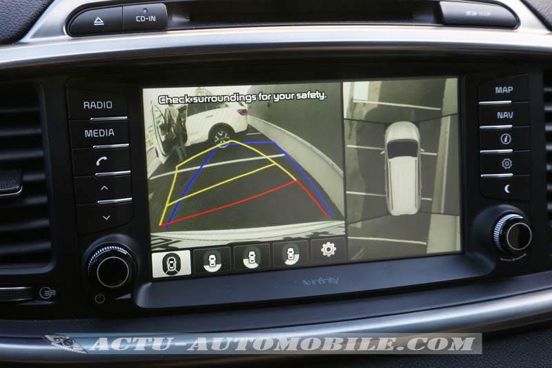 Caméra de recul et vision 360 sur le Kia Sorento