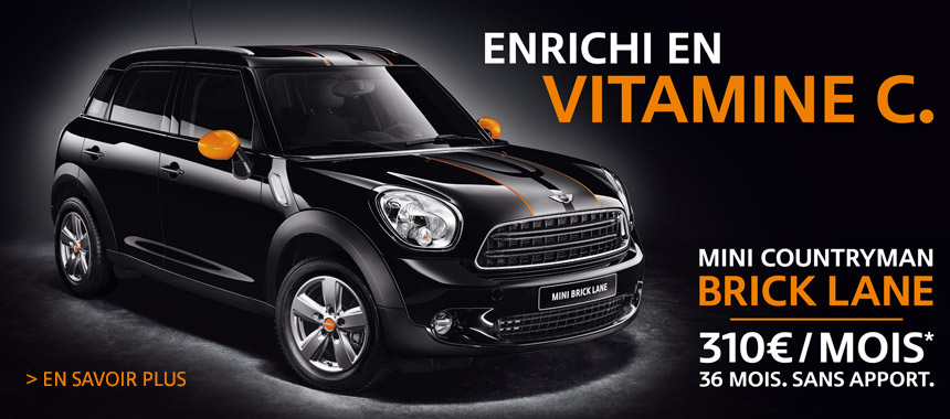 mini countryman brick lane actu automobile. Black Bedroom Furniture Sets. Home Design Ideas