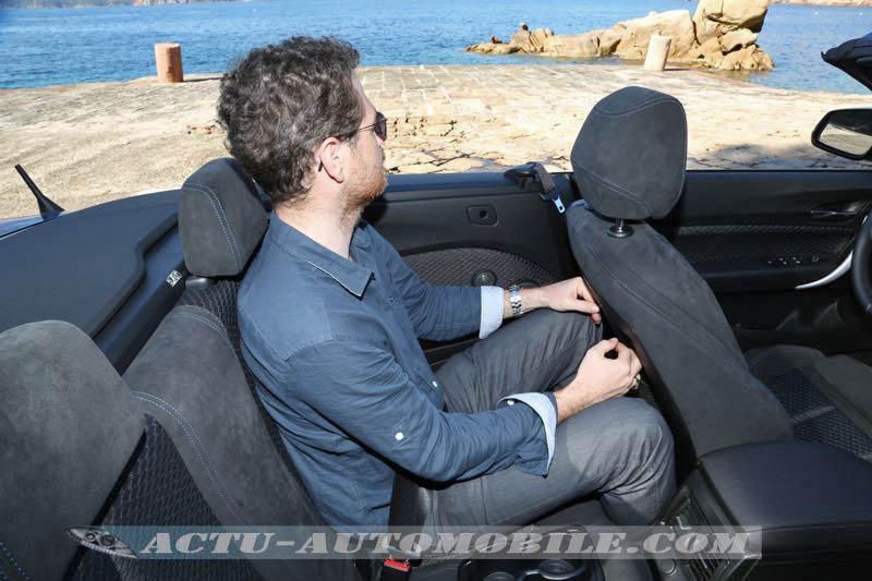 Places arrière BMW Série 2 cabriolet