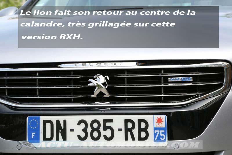Calandre Peugeot 508 RXH restylée