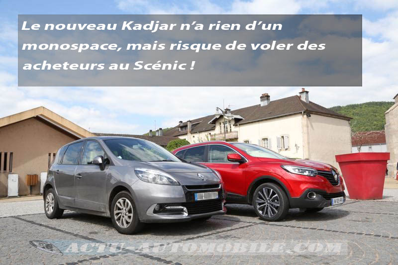 Le Renault Kadjar et le Scénic