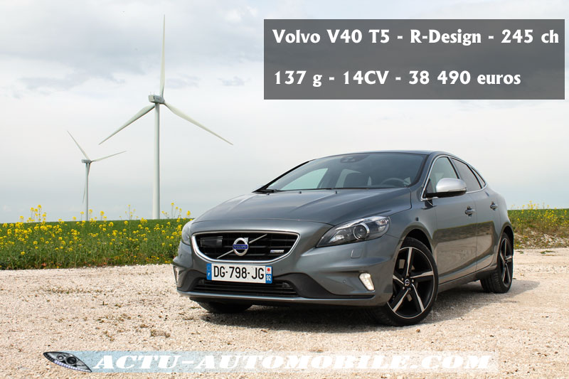 essai volvo v40 t5 le feu aux poudres actu automobile. Black Bedroom Furniture Sets. Home Design Ideas