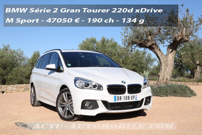 essai bmw s rie 2 gran tourer 220d xdrive actu automobile. Black Bedroom Furniture Sets. Home Design Ideas