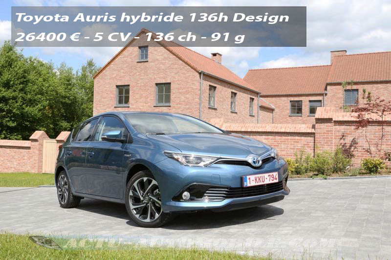 essai nouvelle toyota auris hybride conqu rante. Black Bedroom Furniture Sets. Home Design Ideas