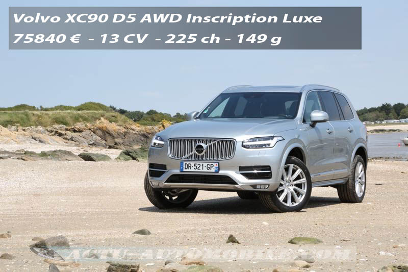 premier essai nouveau volvo xc90 inscription luxe actu automobile. Black Bedroom Furniture Sets. Home Design Ideas
