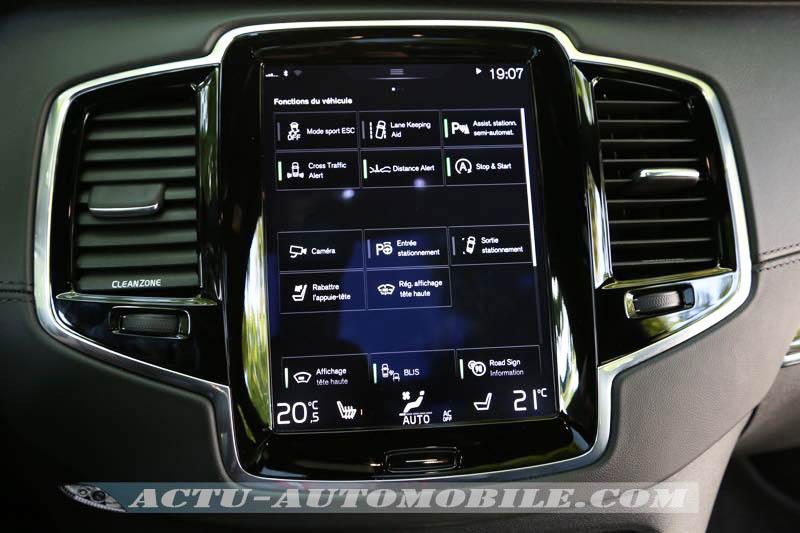 Systèmes de sécurité sur le nouveau Volvo XC90