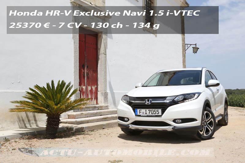 Essai Honda HR-V