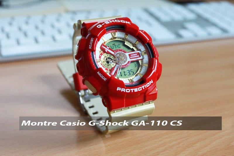 Test montre Casio GA-110 CS