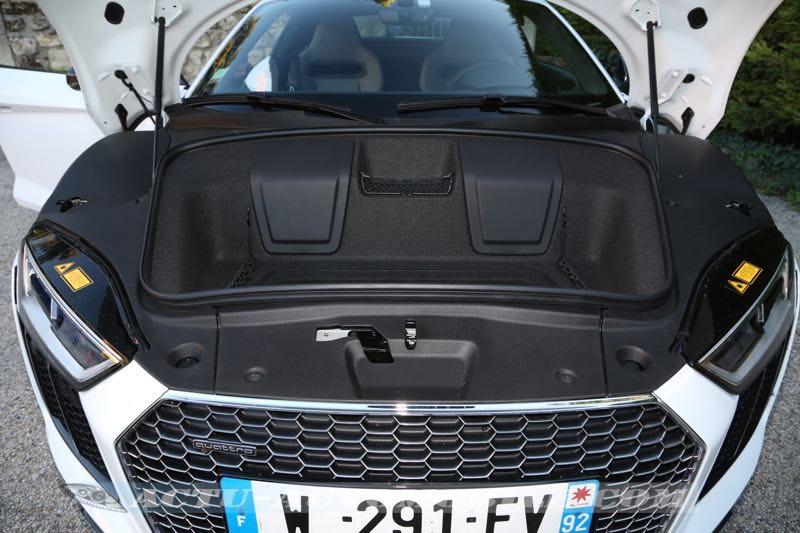 coffre de la nouvelle Audi R8