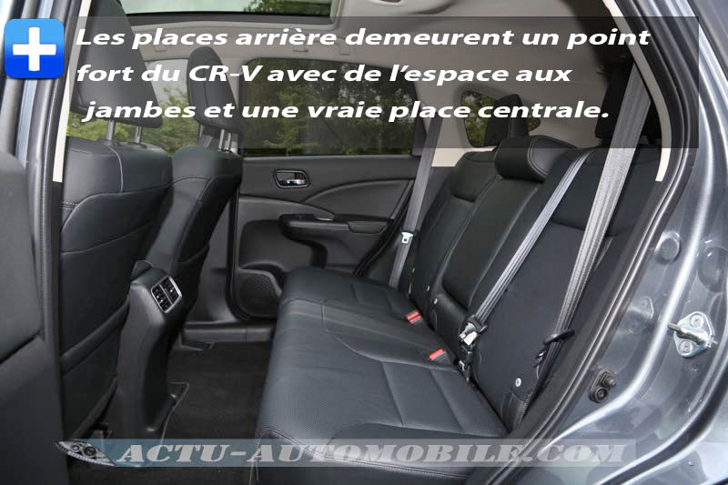 Banquette arrière Honda CR-V 2015