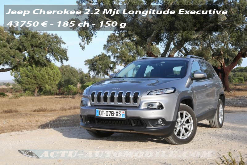 Essai Jeep Cherokee Longitude Executive 185 ch