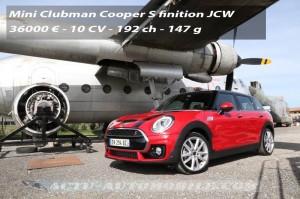 nouveau Mini Clubman Cooper S John Cooper Works