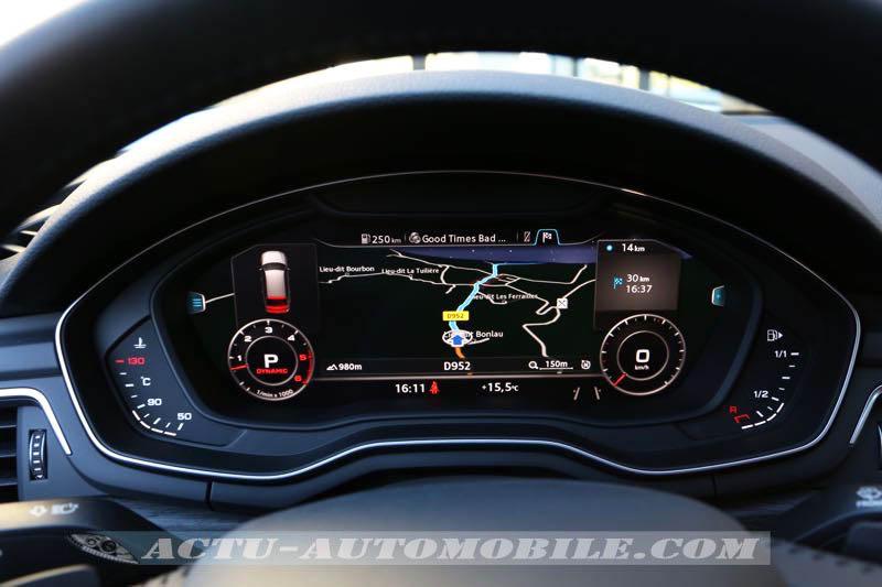 Cockpit virtuelle de la nouvelle Audi A4