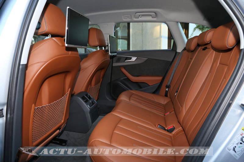 Places arrière nouvelle Audi A4