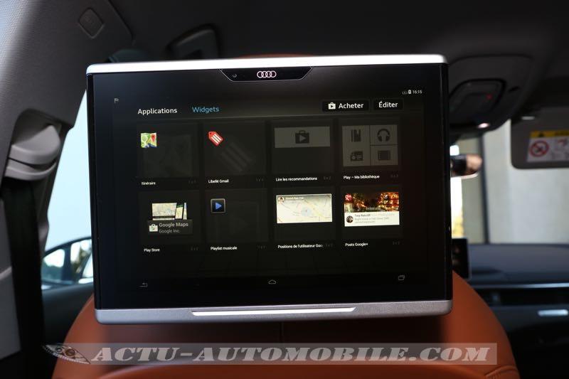 Tablette arrière optionnelle de la nouvelle Audi A4
