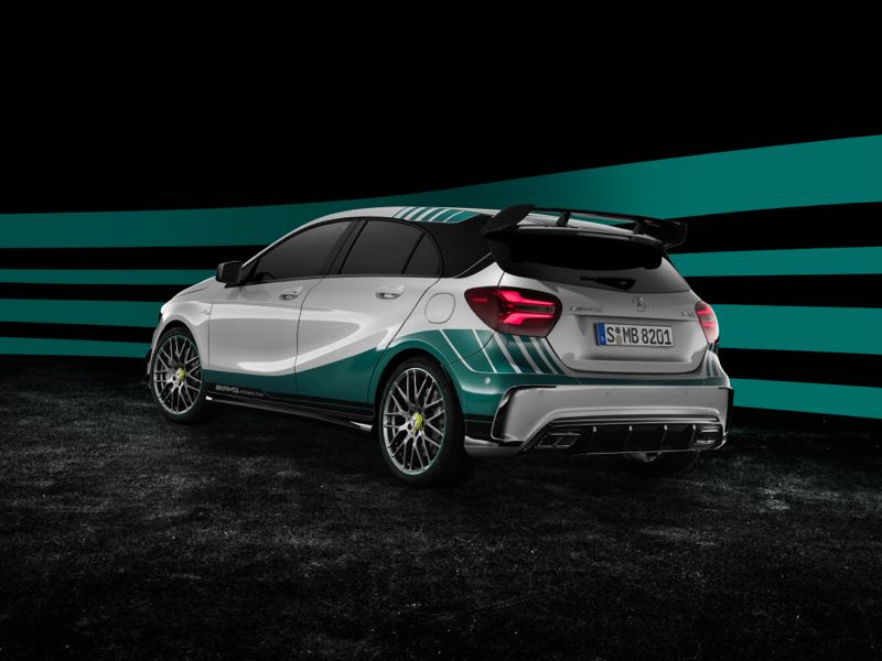 mercedes classe a 45 amg world champion edition actu automobile. Black Bedroom Furniture Sets. Home Design Ideas