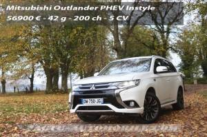 Essai Mitsubishi Outlander PHEV 2016